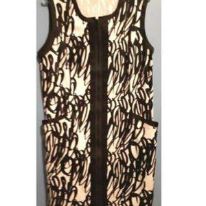 Spanner Dress Full Zip  Black & White  Size W18